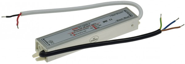 elektronischer LED-Trafo IP67, 1-20 Watt Ein 170-250V, Aus 12V=, wasserdicht