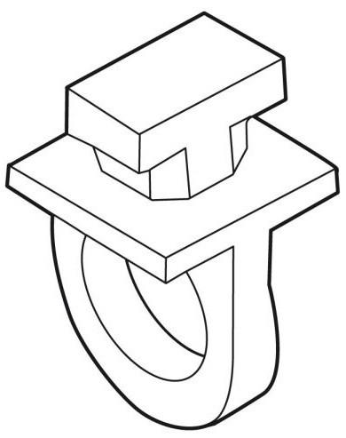 Einhängeöse für Alu-Plakatschiene 20x20mm