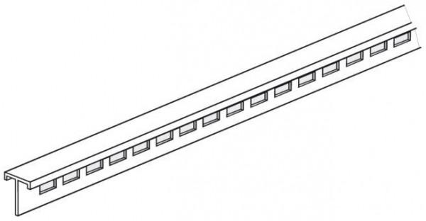 Lochleiste für Alu-Plakatschiene 20x20mm, Länge 1000mm